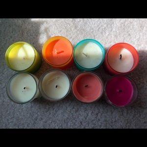 Bath & Body Works Accents - Bath and Bodyworks set of 8 mini summer candles